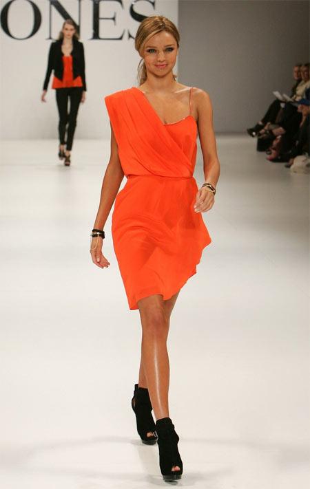 Miranda Kerr - David Jones Orange Dress