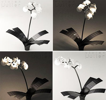Stylish Orchid Lamp