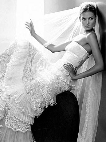 Valentino Strapless Wedding Dress