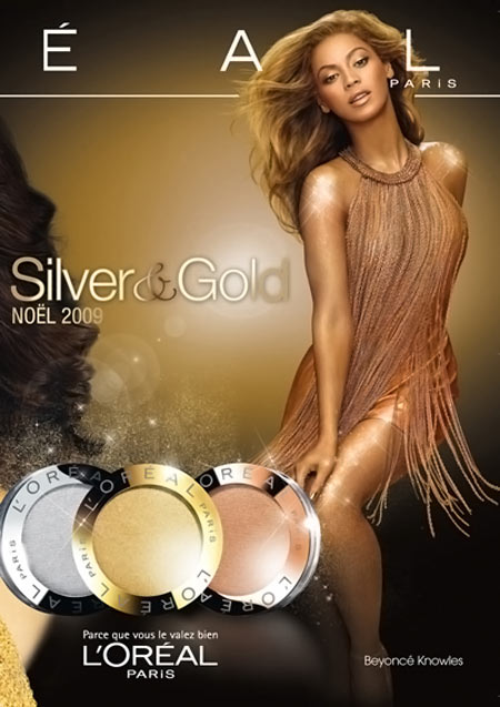 Beyonce All in L'Oreal and Photoshop in Christmas Collection Ads