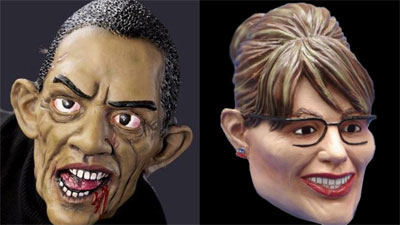 Barack Obama and Sarah Paling Masks