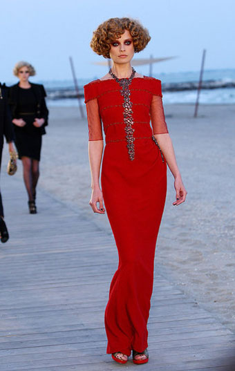 Chanel Cruise Collection Red Dress