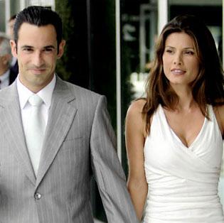Helio Castroneves and Adriana Henao