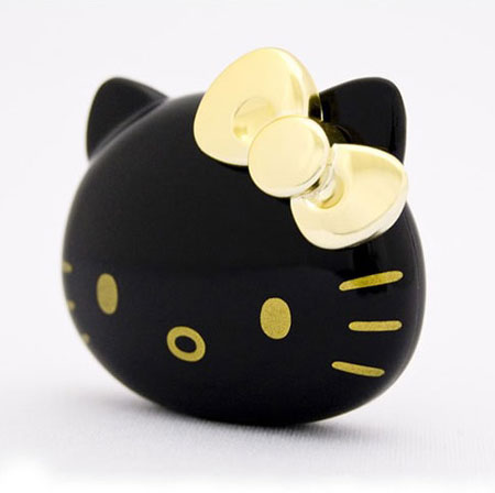 Glossy Black Hello-Kitty Music MP3 Player