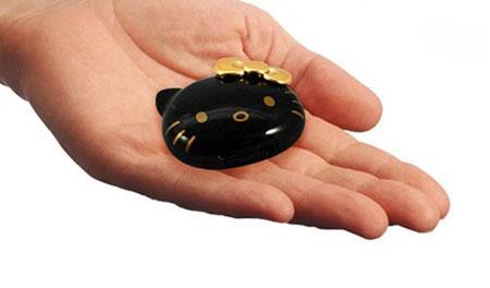 Glossy Black Hello-Kitty Music MP3 Player