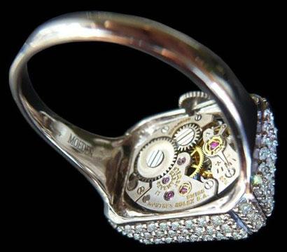 Mo Eden Diamond Ring Watch