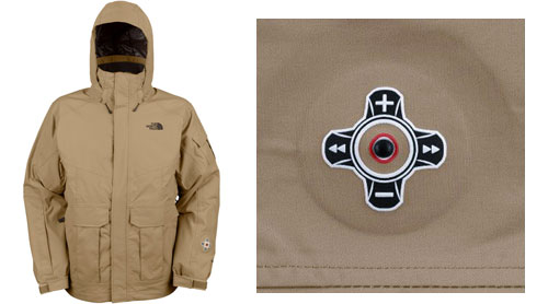 North Face Jacket with iPod Control on the Sleeve