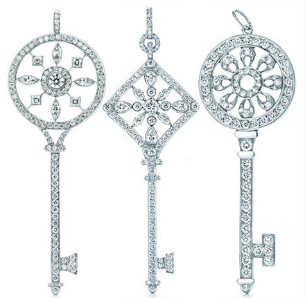 Tiffany & Co Christmas Collection of Diamond Keys