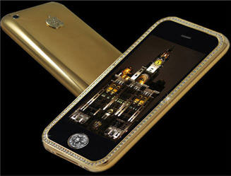Golden Iphone 3GS with Diamonds