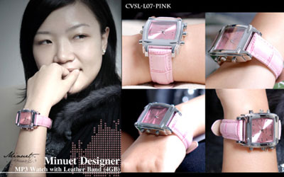 Minuet Pink Ladies Watch With MP3 Player
