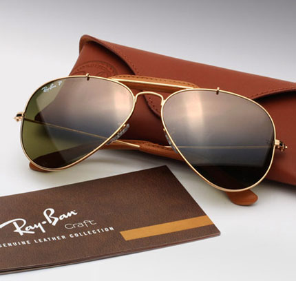 Ray-Ban Leather Sunglasses