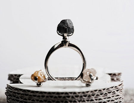 Rough Diamond Ring: Black Diamond Ring