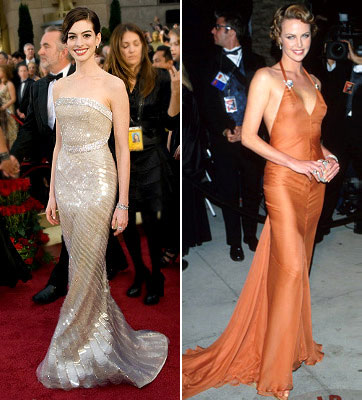 Anne Hathaway and Charlize Theron