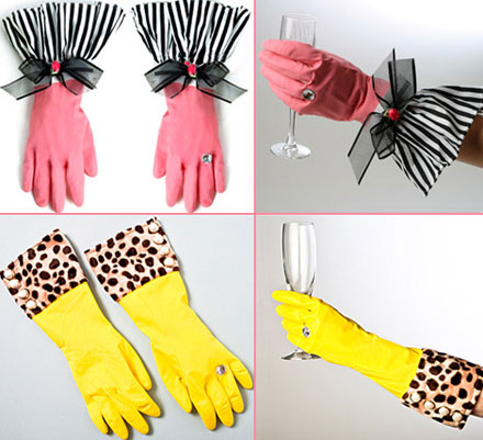 Bow Rubber Gloves
