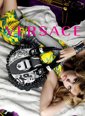 Georgia Jagger 2010 Versace Ad Campaign