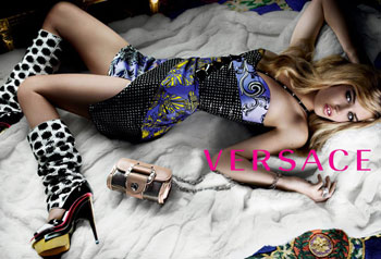 Georgia Jagger Spring Versace Ad Campaign