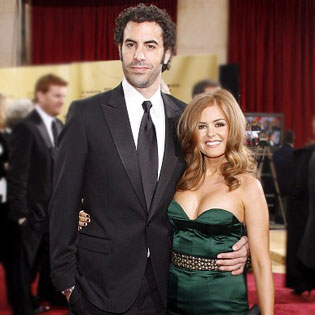 Isla Fisher and Sacha Baron  Sacha Baron Cohen And Isla Fisher Wedding Pictures