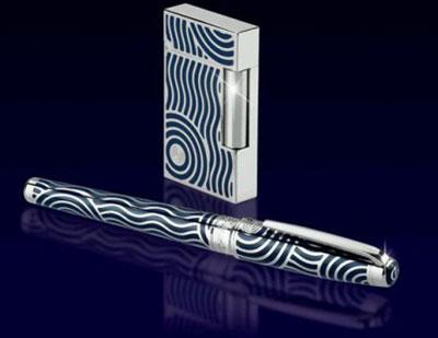 S.T. Dupont Neptune Pen and Lighter