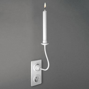 Candle Holder Designed Like a Socket