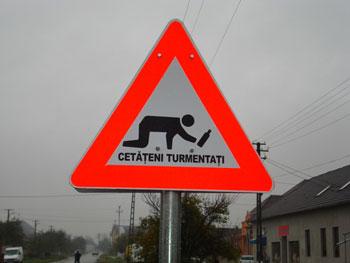 Drunk Man Road Sign