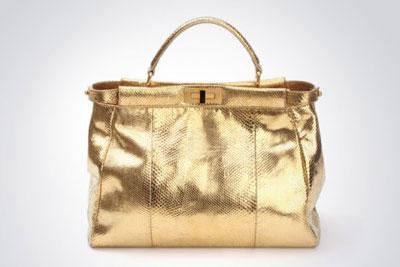 Fendi Peekaboo Gold Bag