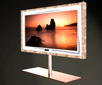 Supreme Rose Luxury HD TV With Diamonds