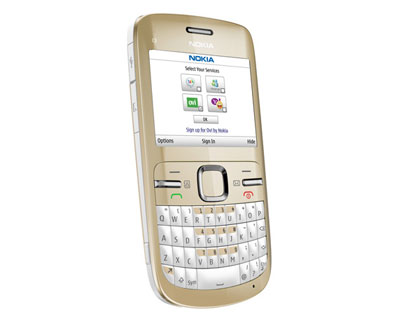 Nokia C3 Golden White