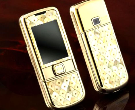 Gold Nokia 8800 Designed As Fish Scales