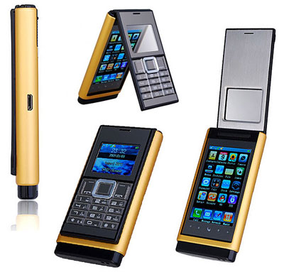 Chinese Handset With Touchscreen in Gold
