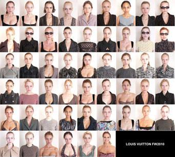 Louis Vuitton Makeup Free Models
