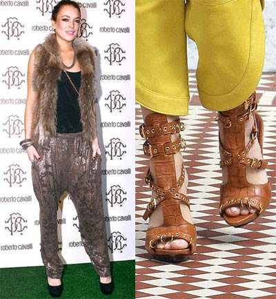 Harem pants, gladiator sandals
