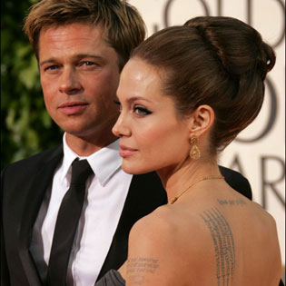 Angelina Jolie and Brad Pitt