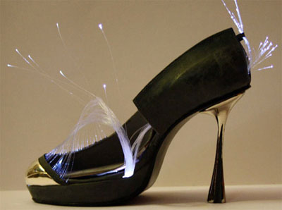Fransesca Castagnacci fiber-optic shoes