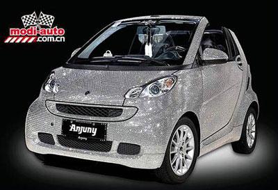 Anjuny Car Covered in Swarovski crystals