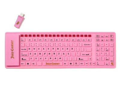 Juicy Couture Pink Jelly Wireless Keyboard