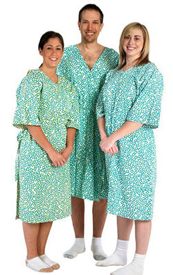Diane Von Furstenberg stylish hospital gowns