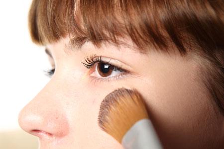 Woman, makeup