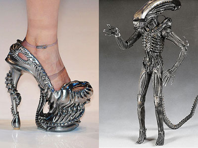 Alien shoes by Alexander McQueen