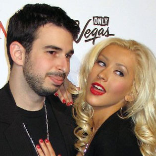 Christina Aguilera and her husband