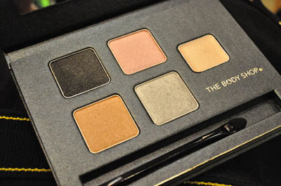 Body Shop Christmas Palette, eyeshadows