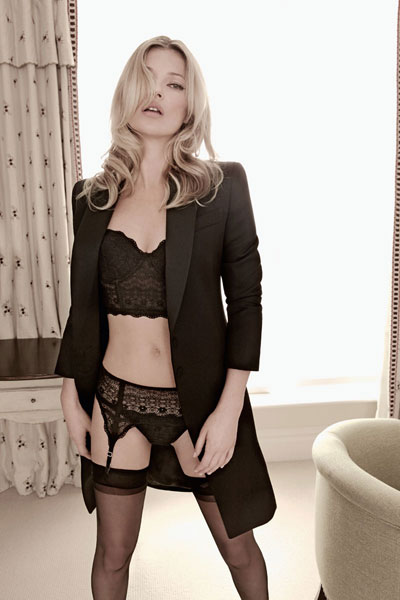 Valisere lingerie ad campaign, Kate Moss