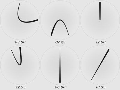 One Line Watch designed by Sam