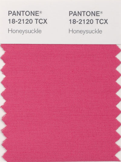 Pantone new color 18-2120 Honeysuckle