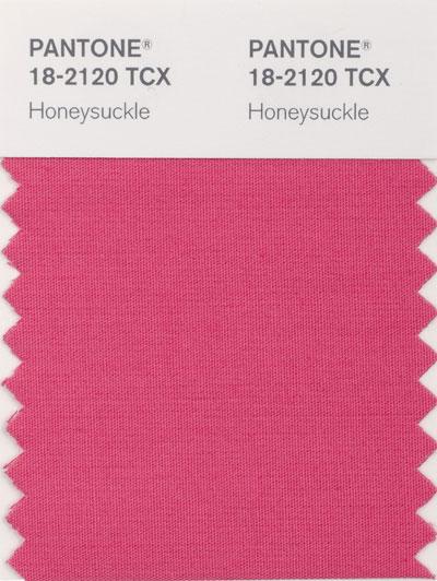 Pantone new color 18-2120 Honeysuckle