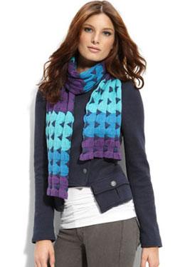 Stylish scarf, bright geometry