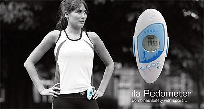 Woman wearing Ila Sport Pedometer