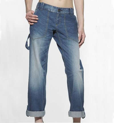 Women carpenter jeans