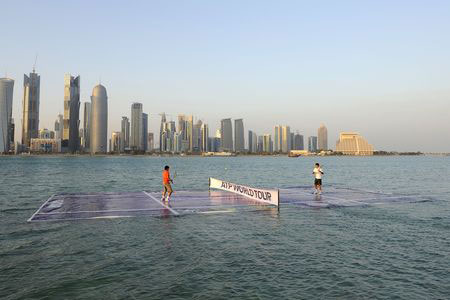 Federer Nadal match on water