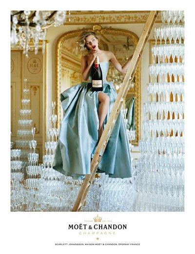 Scarlett Johansson for Moët & Chandon
