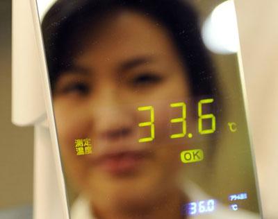 Thermo Mirror measures body temperature